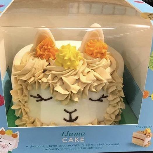 new  m u0026s llama 3 layer sponge cake  serves 12   u00a312