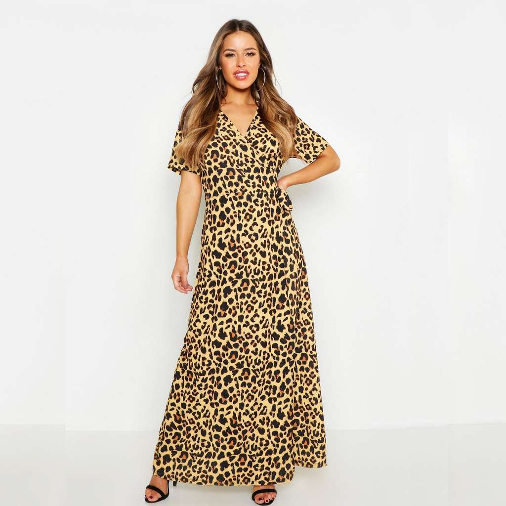007f9acb0581 Petite Wrap Leopard Print Maxi Dress (Boohoo £3.99 delivery or £9.99 next  day delivery for a whole year) - £0 - hotukdeals