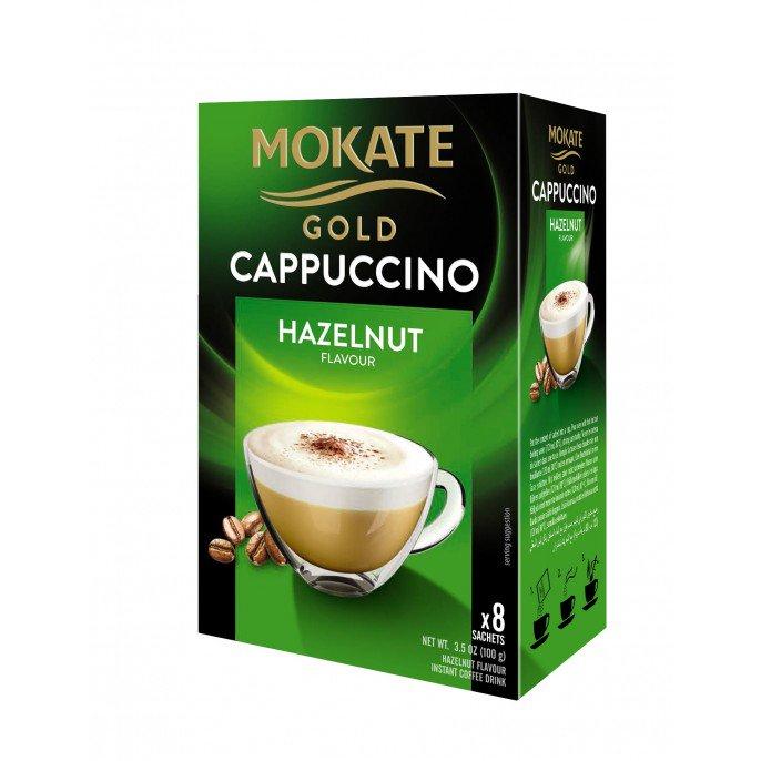 Mokate 8 Sachets Gold Cappuccino ; Hazelnut / Chocolate