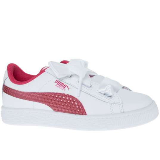 size 40 25c90 f33bc Girls pink and white leather Puma trainers £16.99 + £3.99 ...