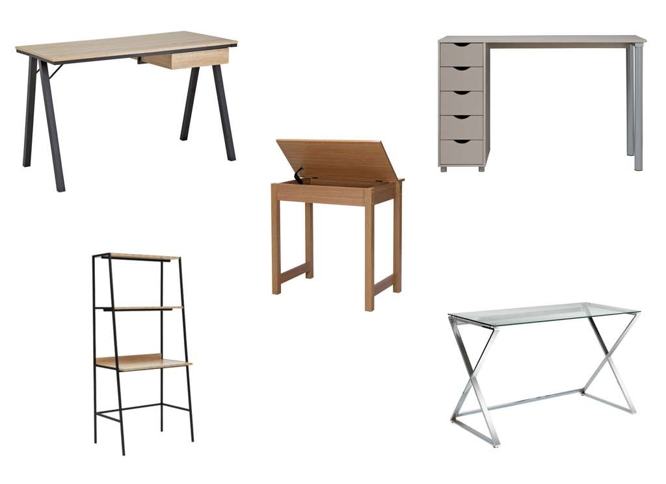 Office Desks On Half Price Sale Eg Denbigh Oak Effect
