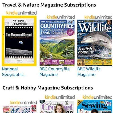 Amazon have now added magazines to their Kindle unlimited