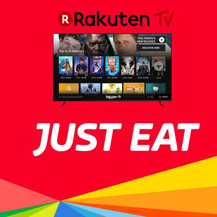 Free Movie With Your Takeaway & Rakuten + 10% off with code @ Just