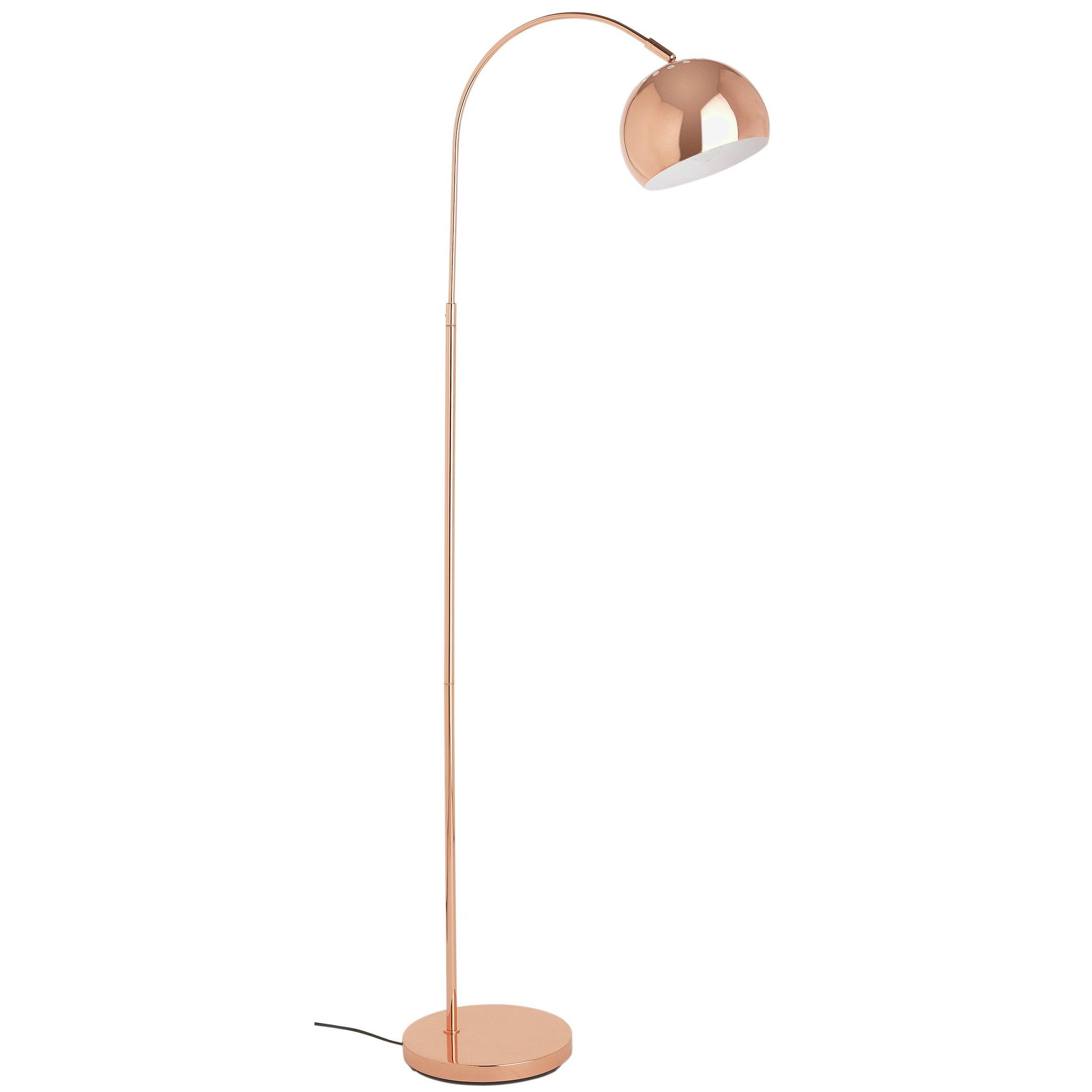 Curva Floor Lamp In Copper 15 Sainsbury S