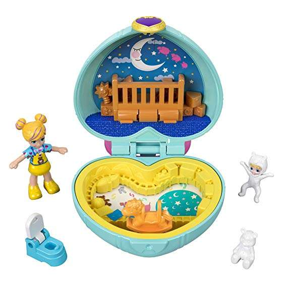 128° - Polly Pocket GFM51 Teeny Tot Nursery Compact, Micro Dolls & Accessories only £2.50 + £4.49 delivery Non Prime @ Amazon