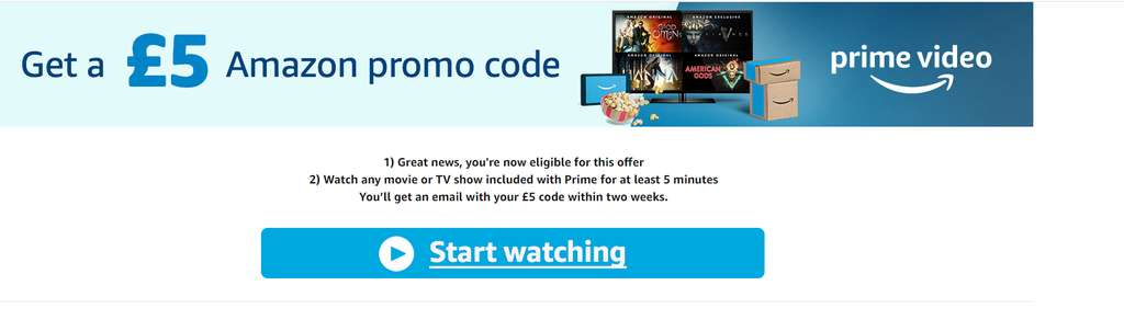 Watch any movie or TV show included with Prime for at least