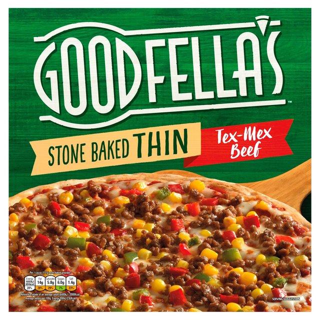 Goodfellas Stonebaked Thin Pizza Tex Mex Beefchickenmeat