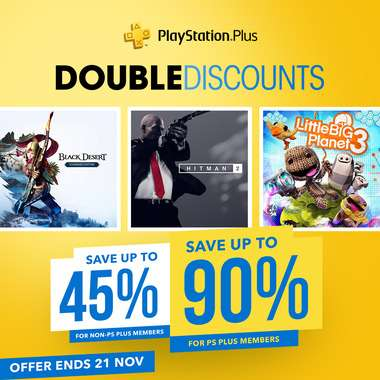 119° - Singles Day Sale, PS+ Double Discounts + Deals of the Month at PlayStation PSN Store Indonesia