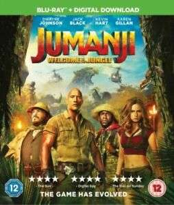 124° - Jumanji Welcome To The Jungle Blu Ray (other kids films available) at Ebaycast-iron-dvds from £