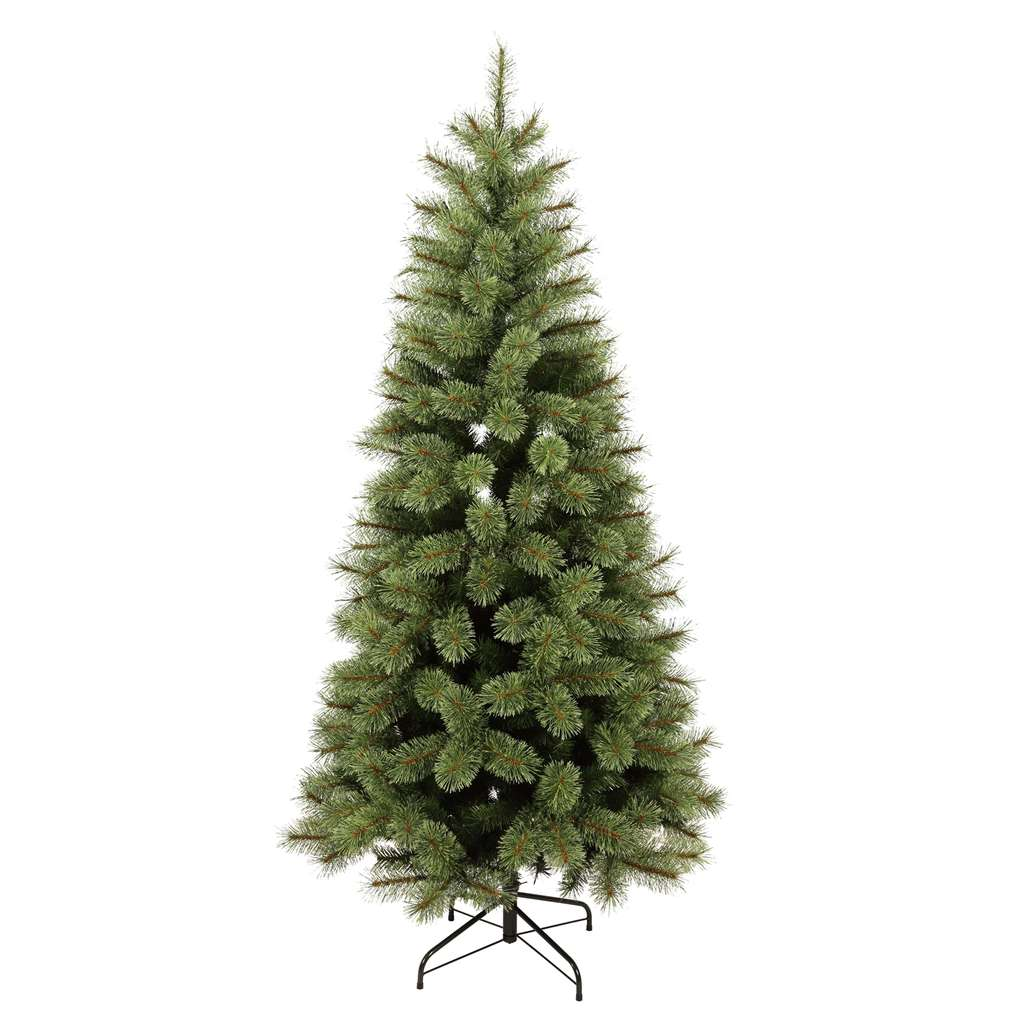 Homebase Artificial Christmas Trees: 6.5ft Pre-lit Frasier Green Christmas Tree £50 Homebase