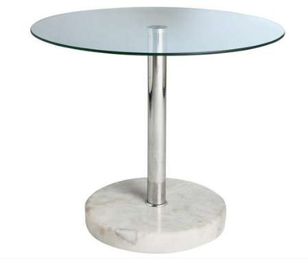Argos Home Round Glass And Marble Effect End Table 2250