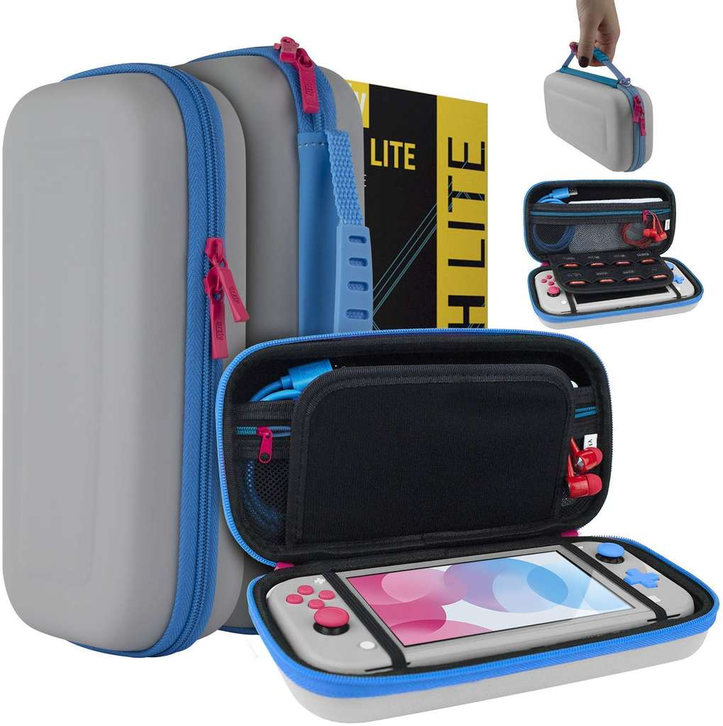 115° - Nintendo Switch Lite Case by Orzly (Grey/Blue with a tint of Pink or Black) £6.99 - Sold by Orzly on Amazon