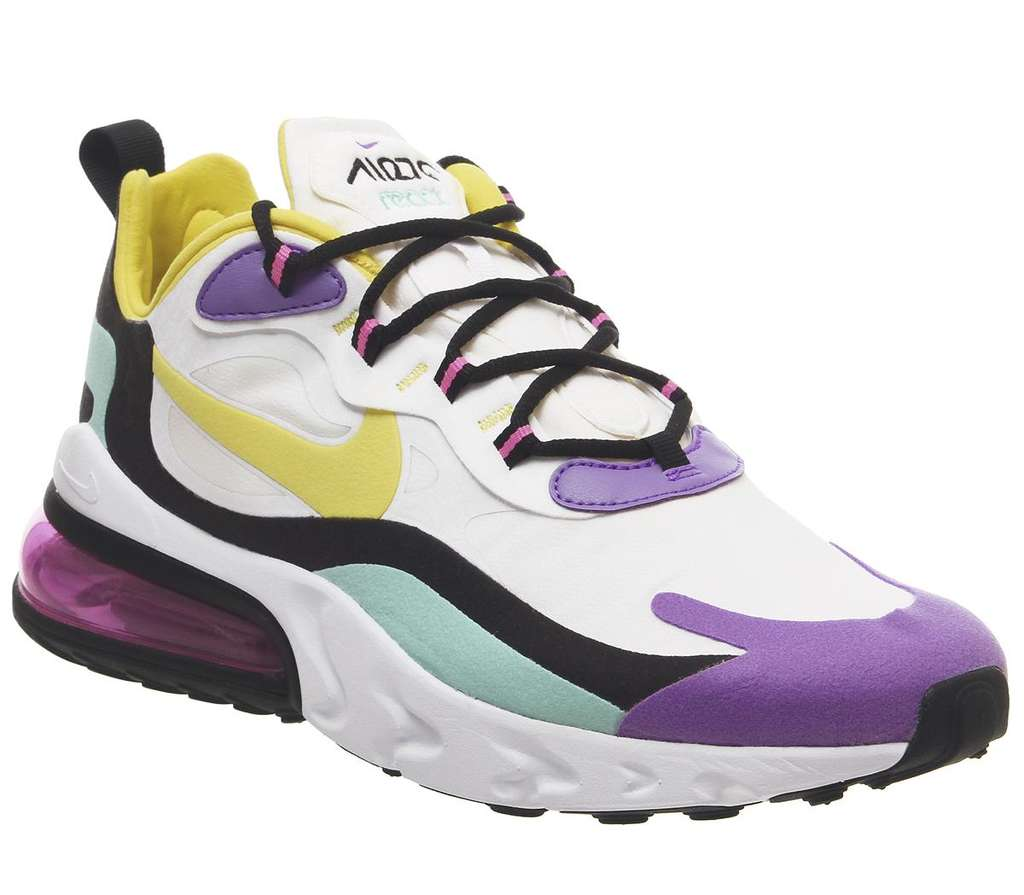 109° - Nike Air Max 270 React Black Bicycle Yellow Teal Tint £61.20 @ Office
