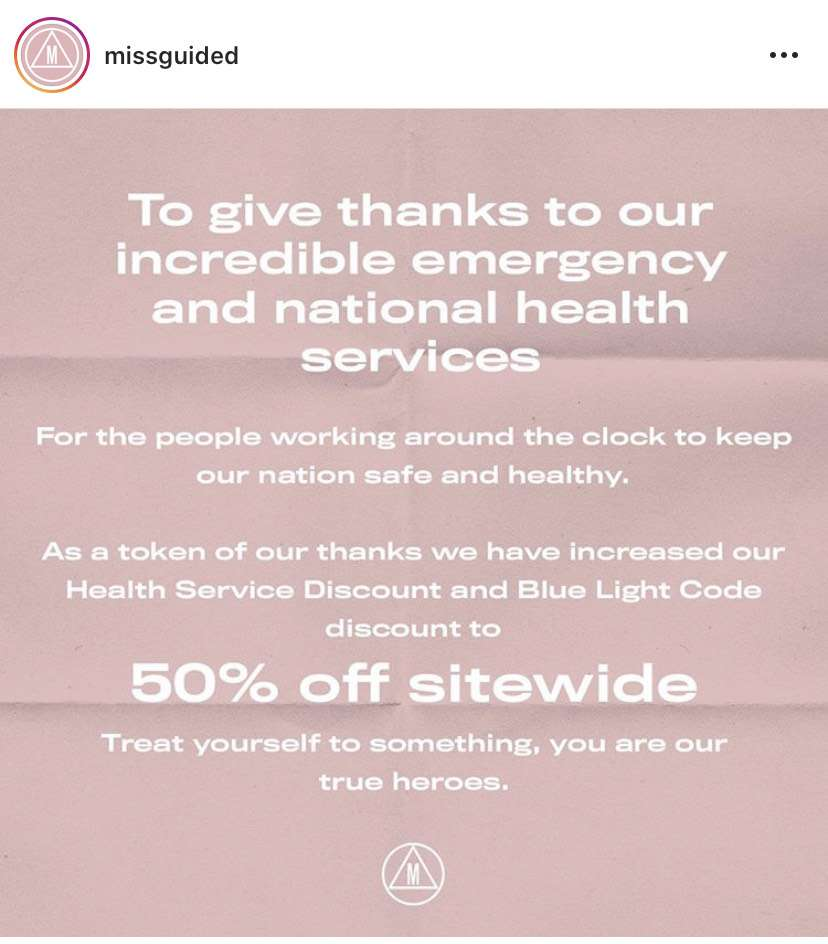 Missguided Offering 50 Off For Emergency And Nhs Workers Hotukdeals
