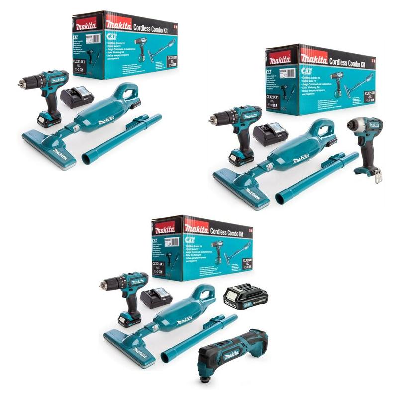 Makita CLX214X1 10.8v Cxt 2 X 1.5Ah LI-ION Combo Set HP331D Drill CL106FD Vakuum