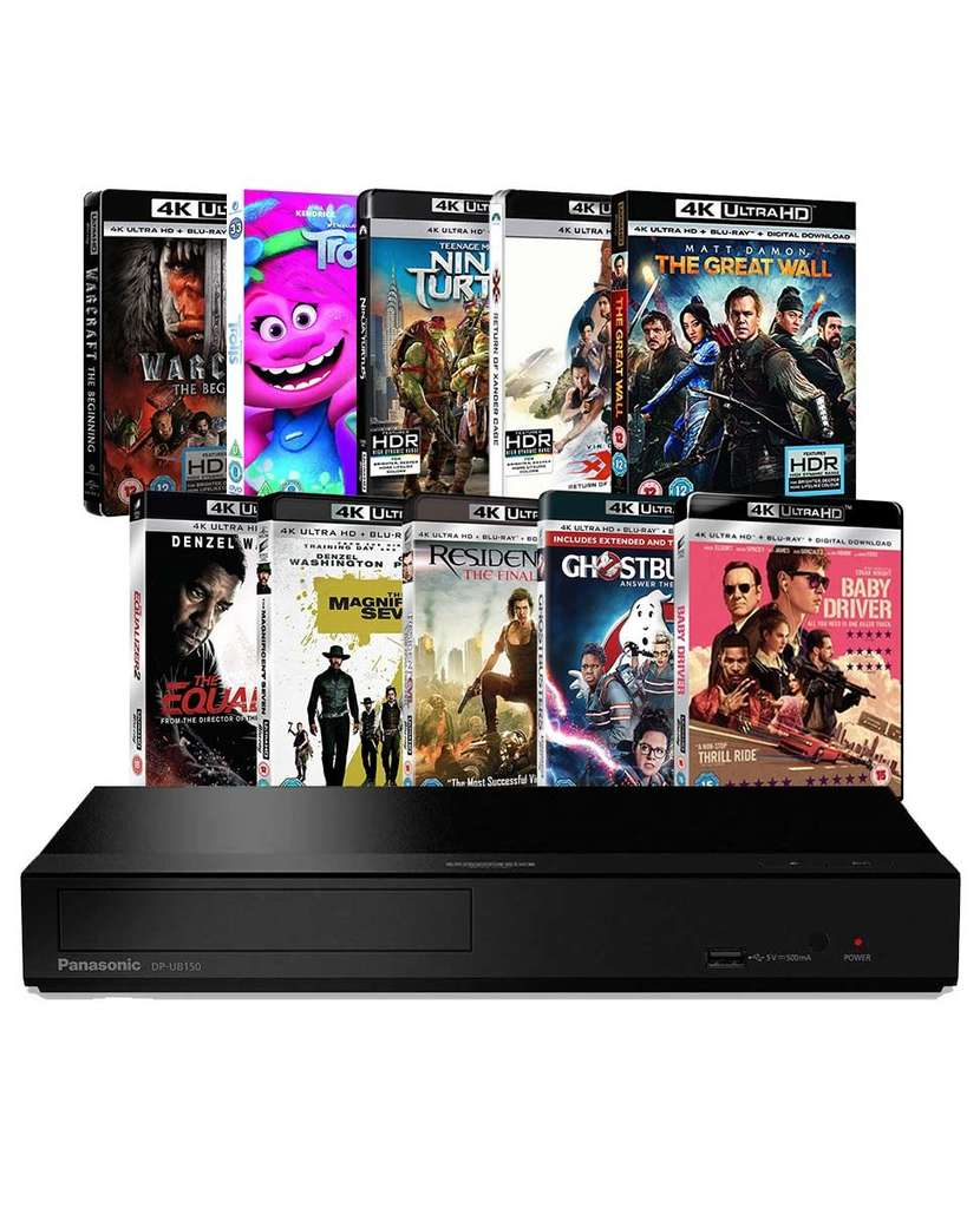 Panasonic UB150 4K Ultra HD Blu-ray Player With 10 4K UHDs