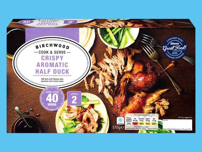 Birchwood Crispy Aromatic Half Duck With 12 Pancakes 570g 3 79 Or 4 Sea Bass Fillets 3 99 Lidl Hotukdeals