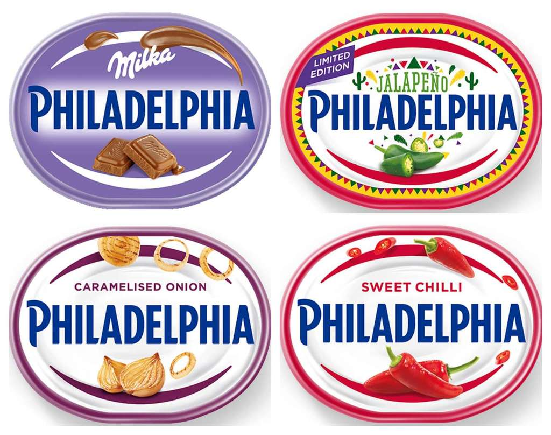 philadelphia soft cheese 150g180g jalapeno milka