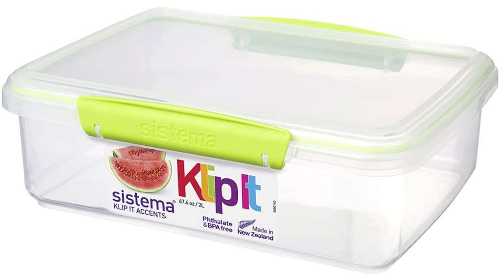 2 L Sistema KLIP IT Accents Food Storage Container ...