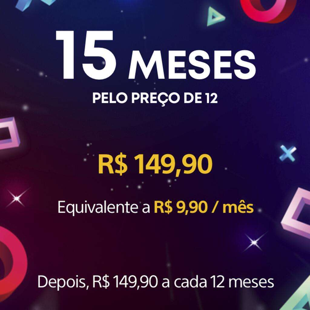 108° - 15 Months PlayStation Plus PS+ Subscription (non-members) £23.62 @ PlayStation Network Brazil