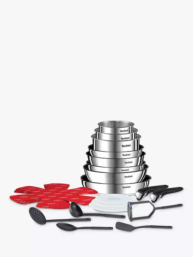 Tefal Ingenio Emotion Stainless Steel Frying and Saucepan Set, 19 Piece £120 @ John Lewis – hotukdeals