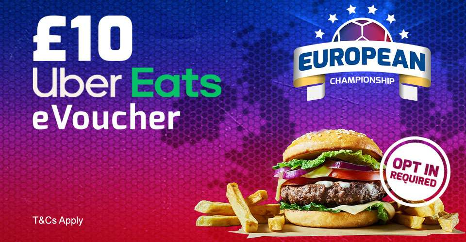 Place a £10+ Bet on the Euro Semi Finals, and get a £10 UberEats voucher (Selected Accounts / Opt In Required) @ Betfred - hotukdeals