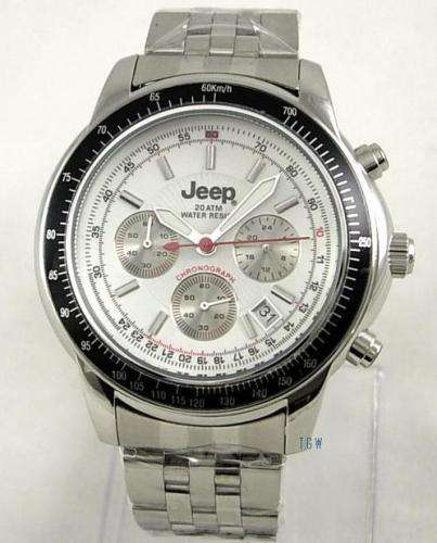 mens new jeep 20atm divers chronograph s steel watch less than half price rrp genuine On watches half price
