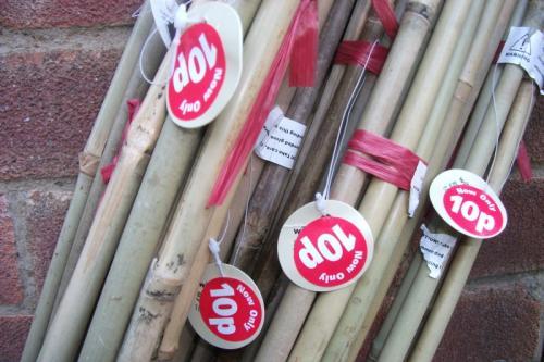 pack of 5 6ft bamboo canes 10p at wilkinsons hotukdeals. Black Bedroom Furniture Sets. Home Design Ideas