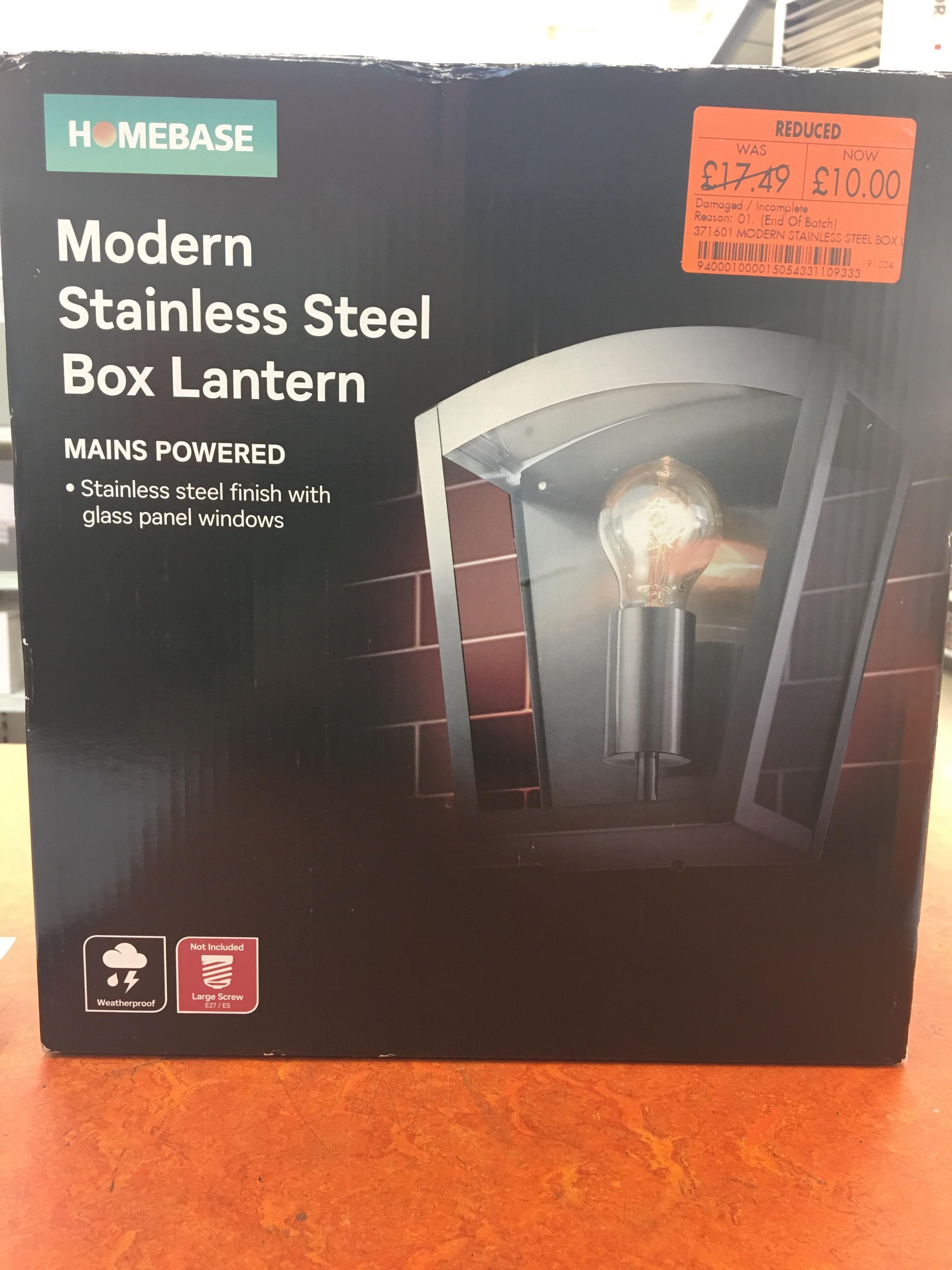 Outdoor Lights Box Lantern 10 At Homebase West Midlands