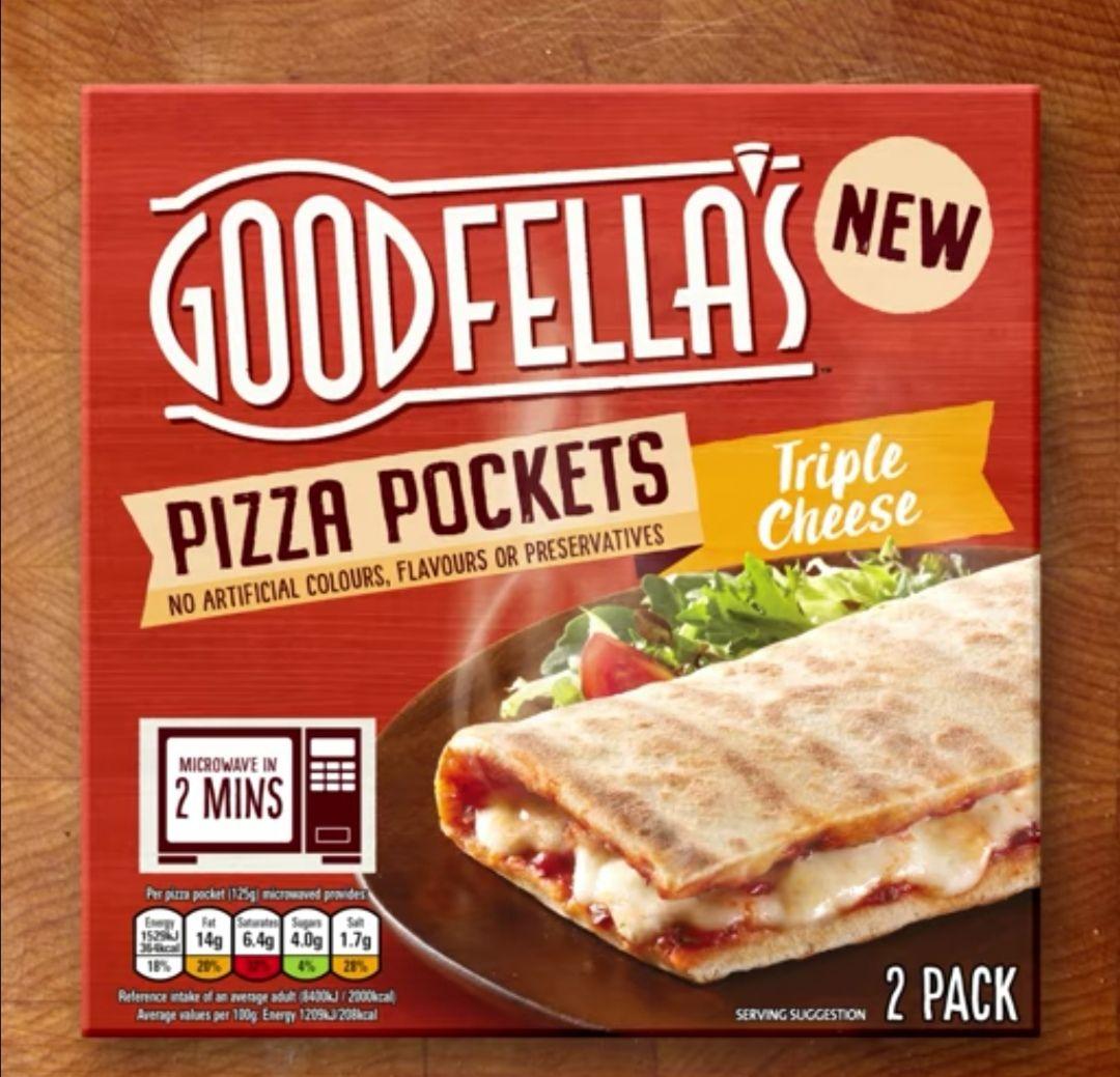 Goodfellas 2 Pizza Pockets Triple Cheese 175 At Asda