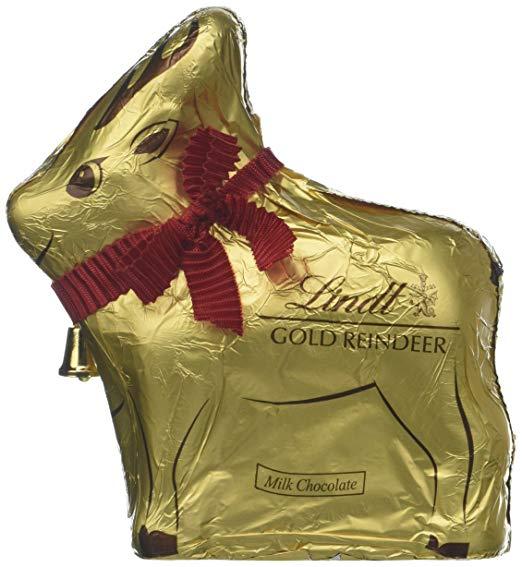 Lindt Gold Reindeer 100g Milk Chocolate Lindt Santa 125g