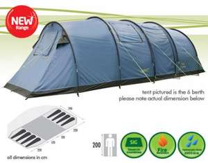 Gelert Vector 8 Berth Tent - £129.95 @ Yeomans