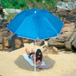Garden Parasol / Beach Umbrella with tilt in various colours 75% OFF Now Only £1.99 @ Wilkinson