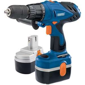 Draper 24V Cordless Hammer Drill Kit (2 Batteries) £17.99 @ Amazon