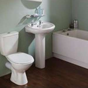 Full Bathroom Suite, Bath, Basin, Toilet £127.98 @ Screwfix