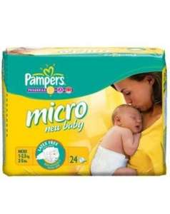 Pampers 'Micro' new baby Nappies 24 Pack £1.50 @ Asda's