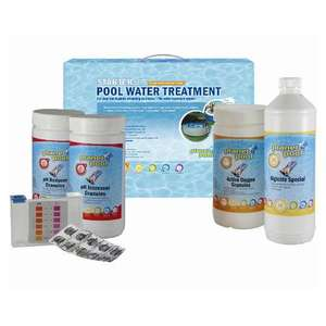 Pool chemical treatment starter set. 0nly £5 in B & Q sale.