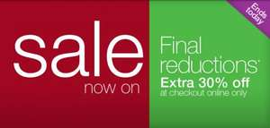 M&S FINAL REDUCTIONS ONLINE TODAY ONLY!!! EXTRA 30% OFF ON ALL SALE ITEMS @ M&S