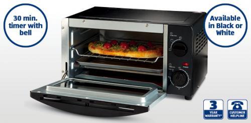Mini Oven  in Black or White £18.99 from Thursday 1st Sept @ Aldi