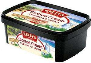 Kelly's Cornish Clotted Cream Ice Cream (1L) £1.78 at Tesco