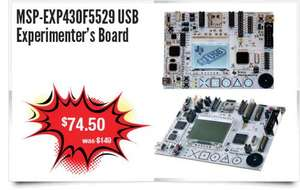 MSP-EXP430F5529 USB Experimenter's Board- Another Hardware Development Deal @ Texas InstrumentsHalf Price £45.74!