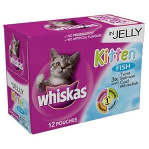 Whiskas Kitten In Jelly 12 Pouches For £3.28 At Wilkinsons