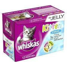 Whiskas Pouch Kitten Fish In Jelly 12 X 100G (3 for 2!!!)  £3.49 @ Tesco