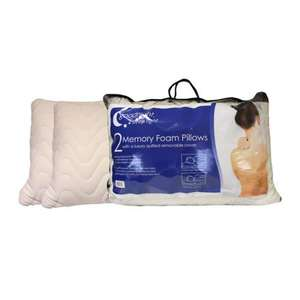 Dunelm-mill Goodnight Sleeptight Memory Foam Pillow Pair Was £27.99 Now £19.99 Save £8.00