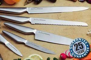 Professional 5-Piece Stainless Steel Chef's Knife Set RRP £111 now £14.99 ONLINE @ Jean-Patrique  + Quidco