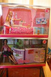 Barbie Kitchen and Dool set, Barbie Bedroom and Dool set Only  £4 Each@Tesco Instore