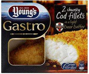 Young's Gastro Chunky Battered Cod Fillets reduced from £2.99 Down to Only 50p, instore @ Asda