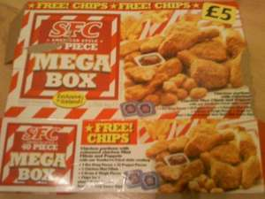 SFC (KFC Style Chicken) 1.750Kg 40 Piece MEGA BOX now only £4 instore @ Iceland