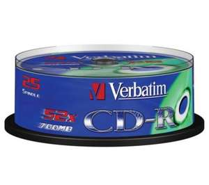 Verbatim 52x Speed Blank CD-R (25 Pack) - £1.50 @ Asda (Instore)