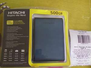 Hitachi 500gb portable drive blue £19.50 @ Tesco